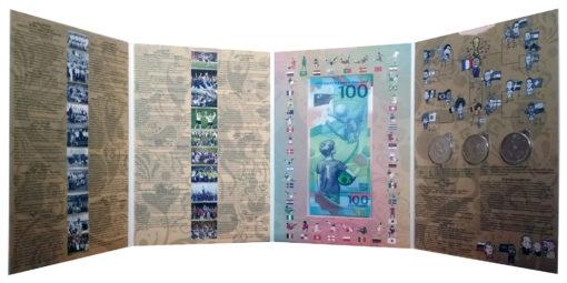 Набор из 3 монет 25 рублей футбол и боны