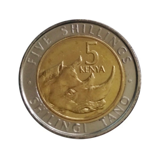 5 шиллингов - Носорог