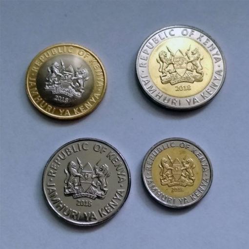 Кения - набор из 4-х монет 2018